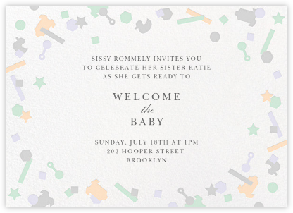 Kidfetti - Gray - Paperless Post - Baby shower invitations