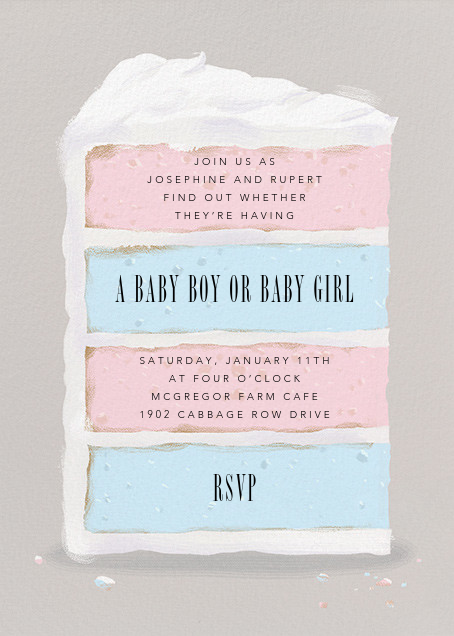 Gender reveal invitations online at Paperless Post