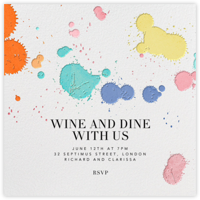 Schizzata - Ivory/Multicolored - Kelly Wearstler - Invitations for Entertaining