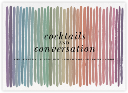 Pigments - Ivory/Multicolored - Kelly Wearstler - Dinner Party Invitations