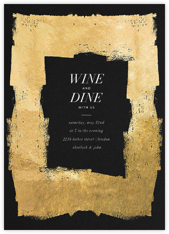 Framework - Black/Gold - Kelly Wearstler - Kelly Wearstler Invitations