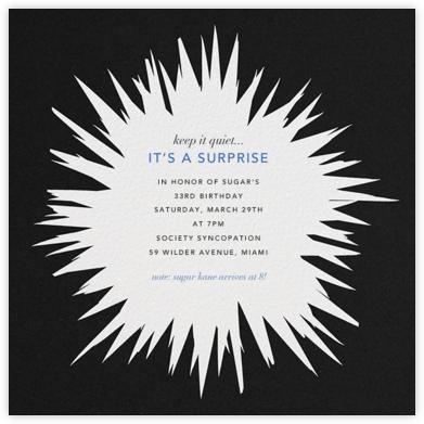 Exuberant - Black - Kelly Wearstler - Adult Birthday Invitations