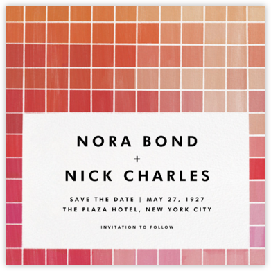 Chromatic - Red - Kelly Wearstler - Modern save the dates