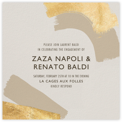 Coupling - Cream - Kelly Wearstler - Engagement party invitations