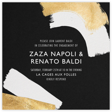 Coupling - Black - Kelly Wearstler - Engagement party invitations