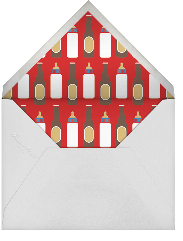 Brew Addition - Paperless Post - Baby shower - envelope back