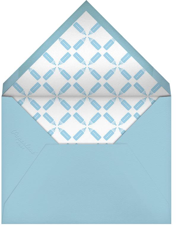 Royal Pair - Blue - Paperless Post - Baby shower - envelope back