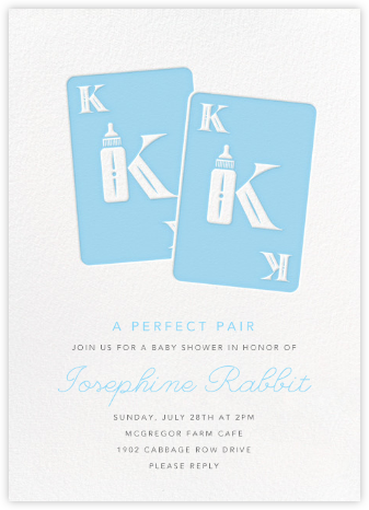 Royal Pair - Blue - Paperless Post - Baby Shower Invitations