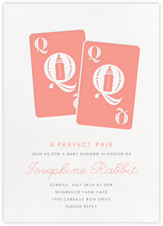 Royal Pair - Pink - Paperless Post - Baby shower invitations