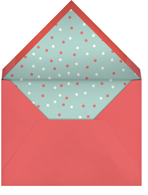 Sprinkle of Joy - Coral - Paperless Post - Baby shower - envelope back