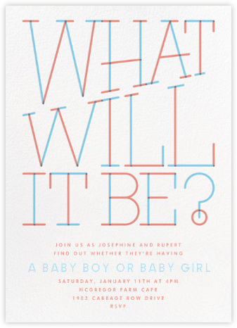 Revealing Question - Paperless Post - Baby Shower Invitations