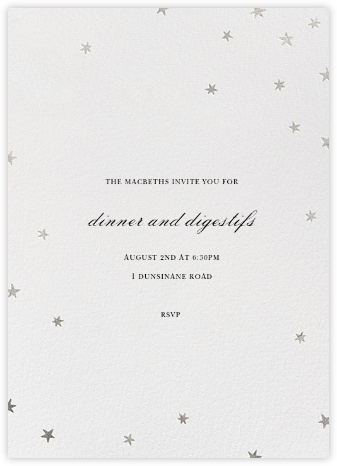 Nightly (Tall) - Ivory/Silver - Paperless Post -