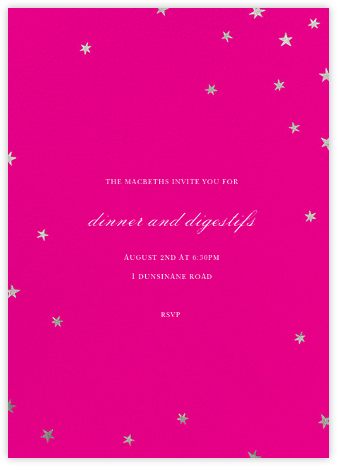 Nightly (Tall) - Bright Pink/Silver - Paperless Post -