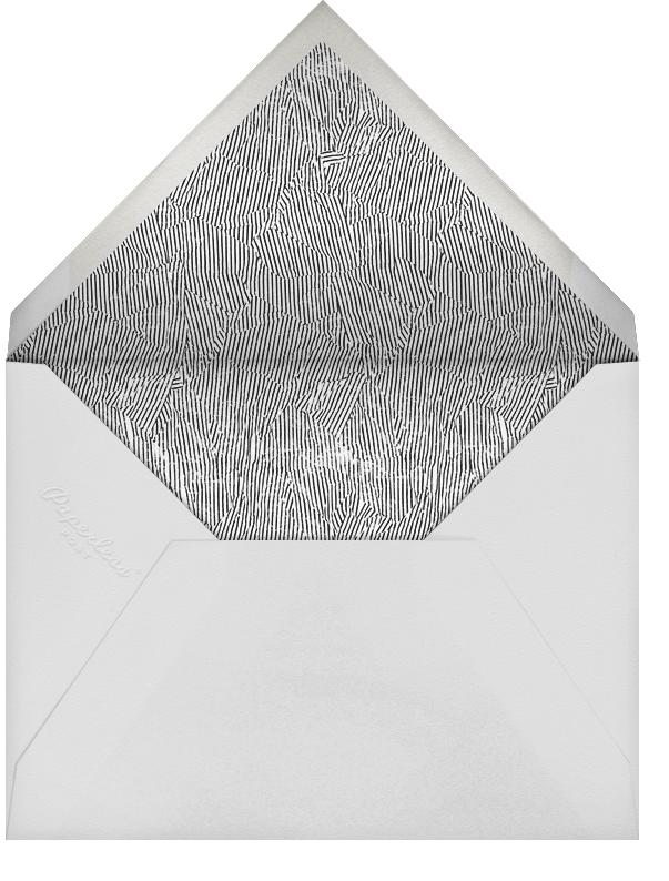 Plume - Gold - Kelly Wearstler - 50th wedding anniversary invitations - envelope back