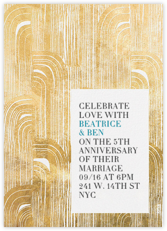 Plume - Gold - Kelly Wearstler - Celebration invitations