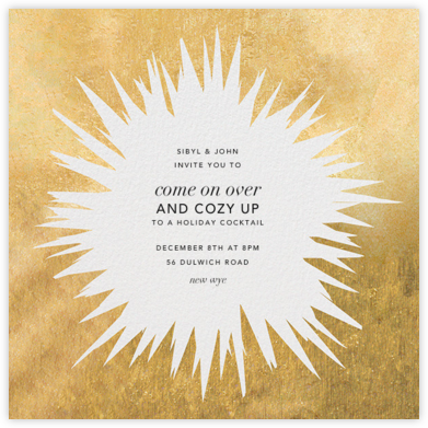 Exuberant - Gold - Kelly Wearstler - Holiday party invitations