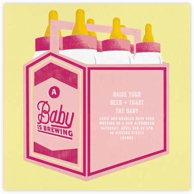 Bottles Up - Hot Pink - Paperless Post - Celebration invitations