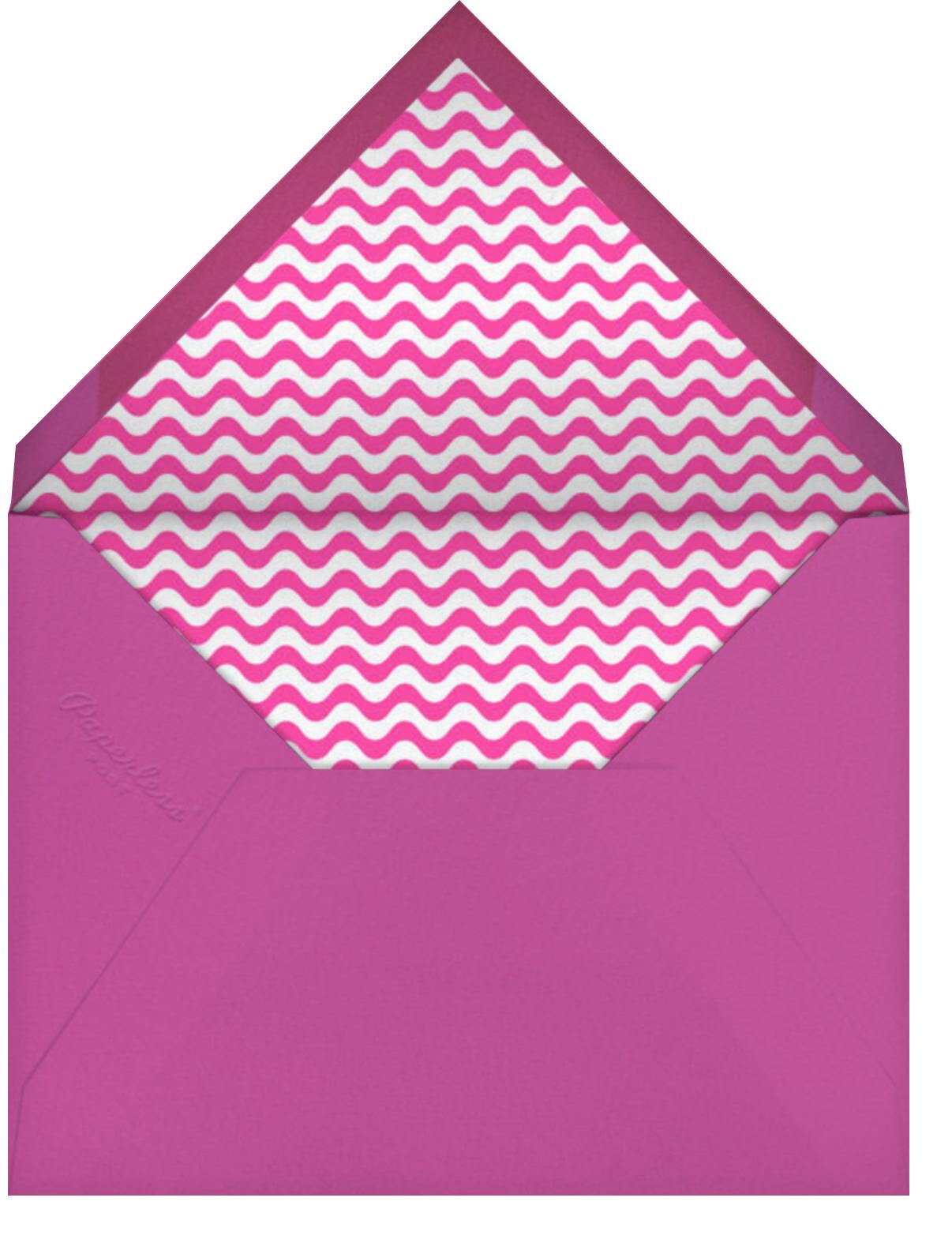 Bottles Up - Hot Pink - Paperless Post - Baby shower - envelope back