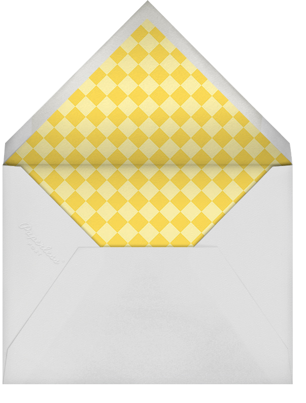 Little Library - Yellow - Paperless Post - Baby shower - envelope back