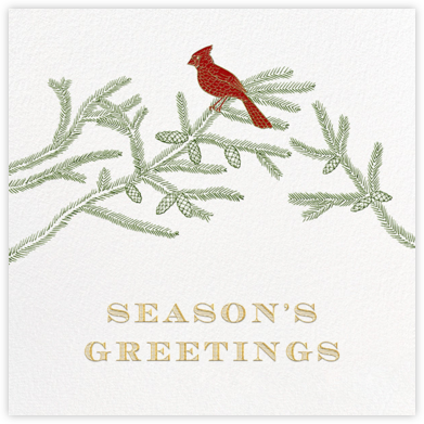 Christmas Cardinal - Ivory - Paperless Post - Business holiday cards