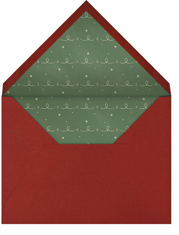 Christmas Cardinal - Ivory - Paperless Post - Christmas - envelope back