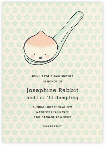 Little Dumpling (Invitation) - Hello!Lucky - Online Baby Shower Invitations