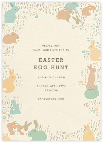 Bunny Bounty  - Hello!Lucky - Easter Invitations