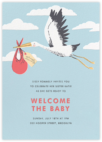 Airmail (Invitation)  - Hello!Lucky - Baby shower invitations