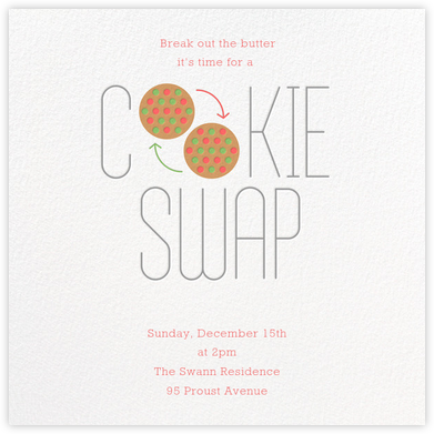 Bake and Switch - Paperless Post - Cookie Swap Invitations