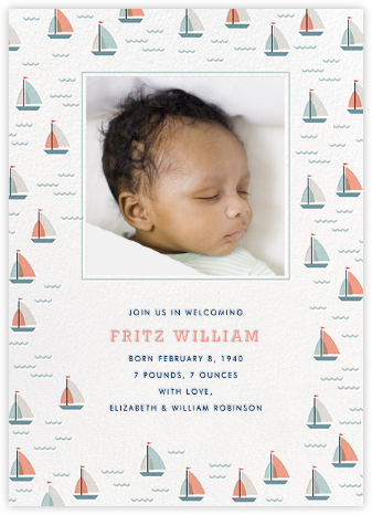 Yachts of Love (Announcement) - Hello!Lucky - Birth Announcements