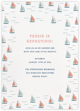 Yachts of Love (Invitation) - Hello!Lucky - Baby shower invitations