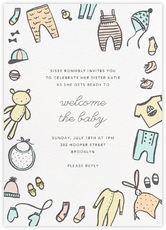 Bundling Basics - Hello!Lucky - Baby shower invitations