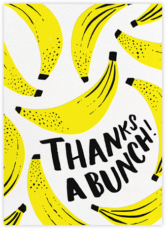 Banana Bonanza - Hello!Lucky - Online Thank You Cards
