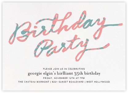 Palmetto Party - Ivory - Ashley G - Adult Birthday Invitations