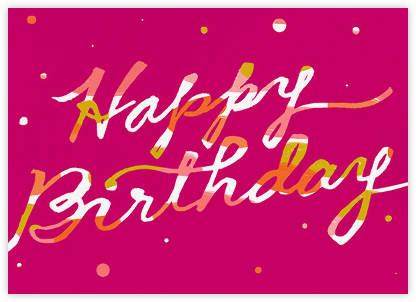 Scratchboard Birthday - Hot Pink - Ashley G -