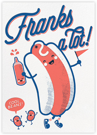 Franks a Lot - Hello!Lucky - Online Thank You Cards