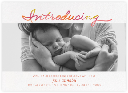Scratchboard Introduction - Pink - Ashley G - Birth Announcements