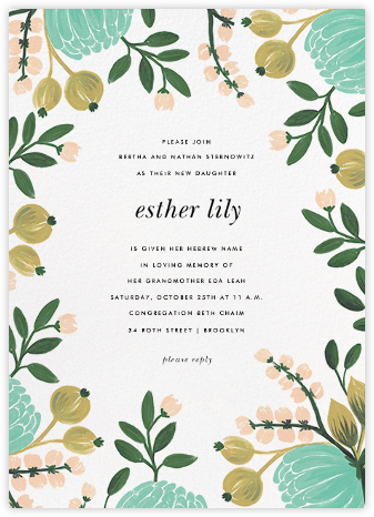 Blue Blooms - Rifle Paper Co. - Religious invitations