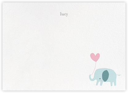 Ellie's Balloon (Stationery) - Pink  - Little Cube - Little Cube Stationery