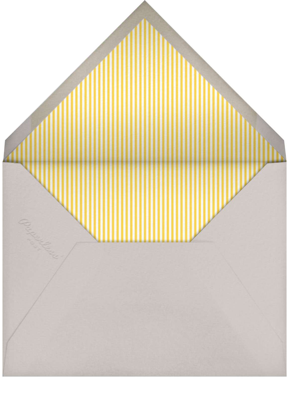 Ellie's Balloon (Stationery) - Yellow - Little Cube - Kids' stationery - envelope back