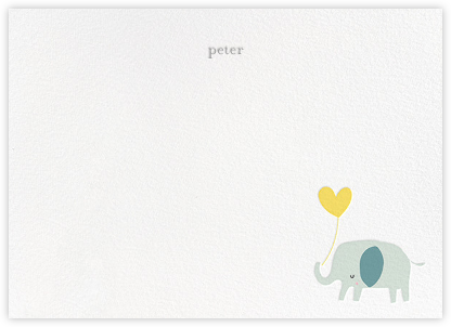 Ellie's Balloon (Stationery) - Yellow - Little Cube -
