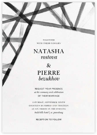 Channels (Invitation) - White/Black - Kelly Wearstler - Kelly Wearstler wedding
