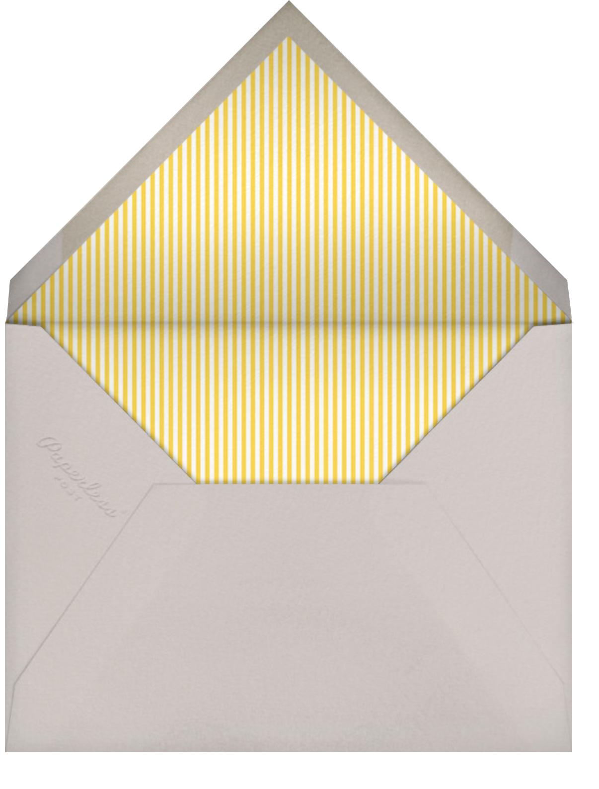 Ellie's Balloon (Photo) - Yellow - Little Cube - Baby boy announcements - envelope back