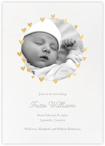 Little Heart Halo (Announcement) - Gold - Little Cube - Birth announcements