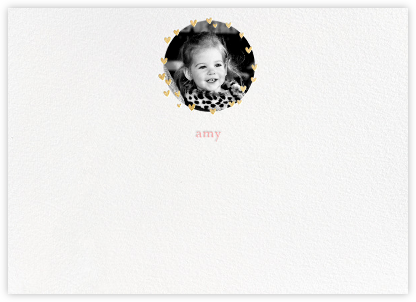 Little Heart Halo (Stationery) - Gold | horizontal