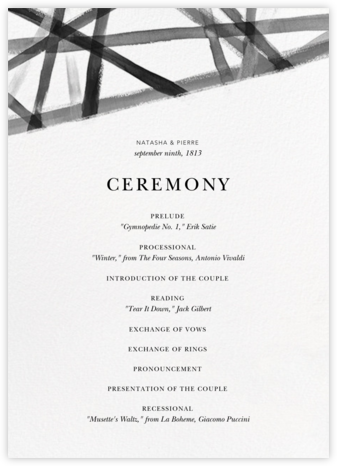 Channels (Program) - White/Black - Kelly Wearstler - Kelly Wearstler wedding