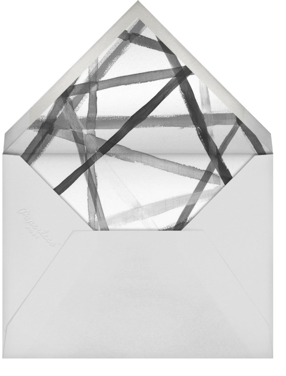 Channels (Stationery) - Navy - Kelly Wearstler - Personalized stationery - envelope back