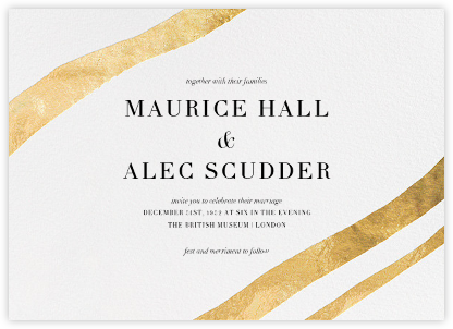 Cherish (Invitation) - Gold - Kelly Wearstler - Modern wedding invitations