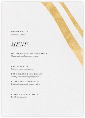 Cherish (Menu) - Gold - Kelly Wearstler - Kelly Wearstler