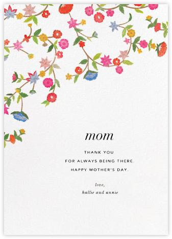 Stitched Floral II - Oscar de la Renta - Mother's Day Cards